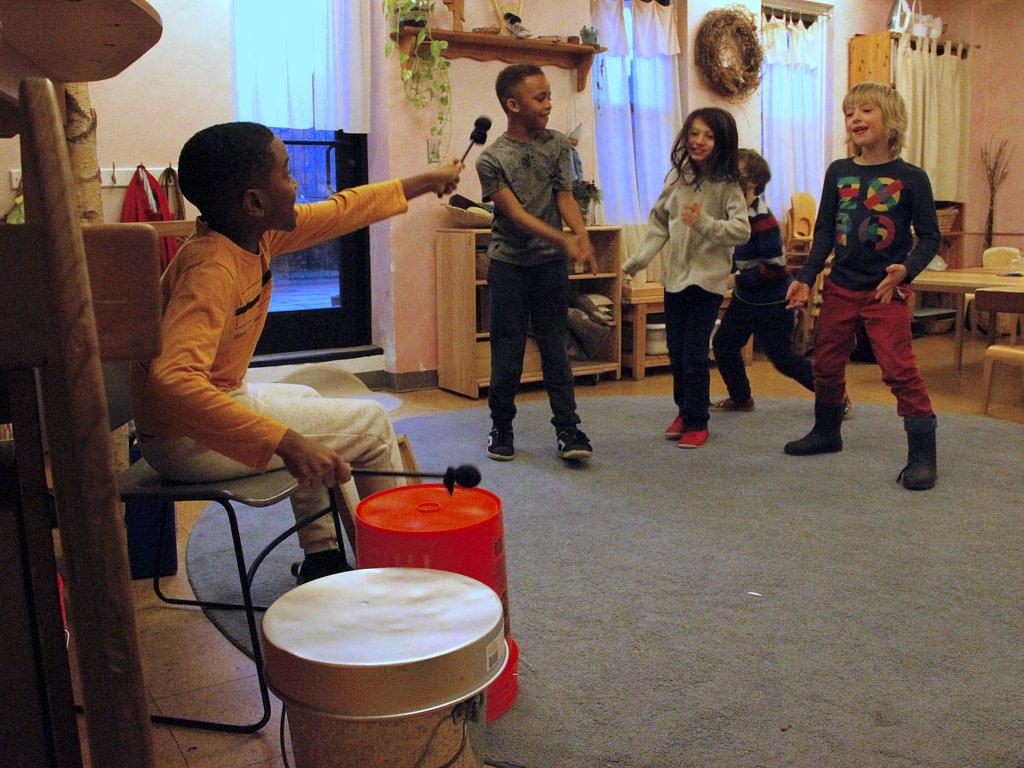 Drummers at Brooklyn Waldorf School